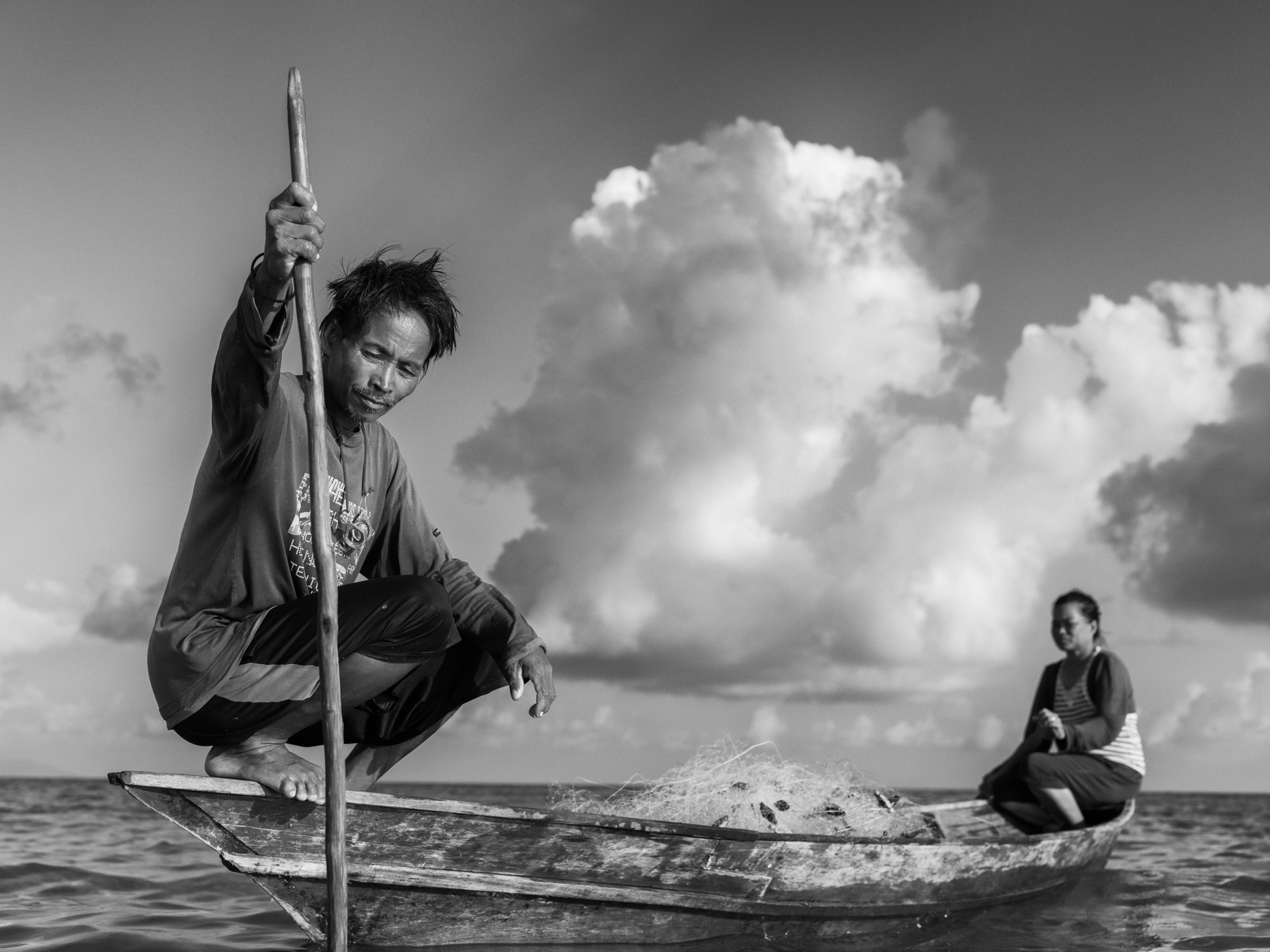Fisherman in Sabah, Borneo by Brisbane Travel Photography Mark Lehn